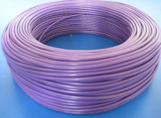 Purple Flexible PVC Tubing Flame Resistance Wire Insulation Protection