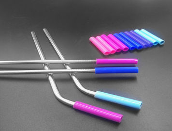 Stainless Steel Flexible Silicone Tubing Tasteless Food Grade Silicone Straw Color
