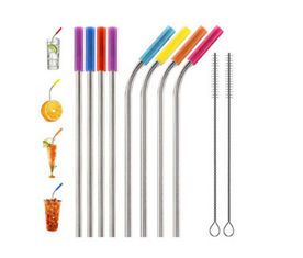 Food Grade Flexible Silicone Tubing Straw Sleeve Tip Round Shape FDA SGS Certificated